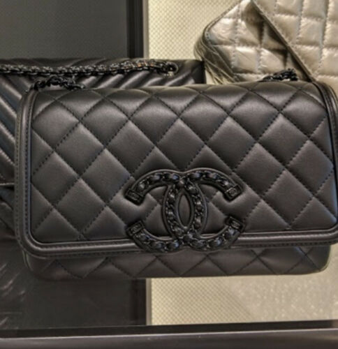 chanel medium flap bag 20b black
