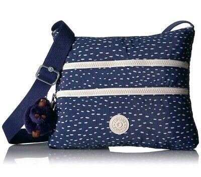 NEW Kipling Alvar across body bag Surreal Dot Blue Rrp £69