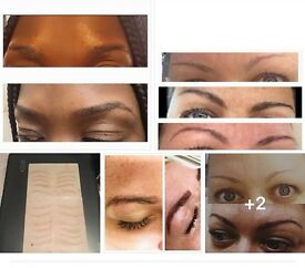 Micro Blading Eyebrow Semi Perm Tattoo