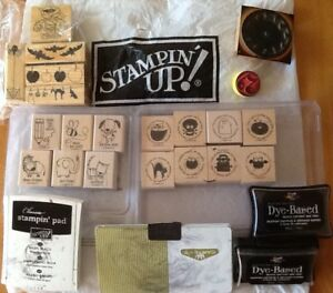 """21 """"STAMPIN' UP""""  & other STAMPS & PADS  take all for $30!!!!"""