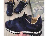Valentino Rock Runners Blue Camo
