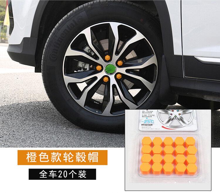 20x Orange Car Wheel Nut Lug Dust Cover Cap Protector Tyre