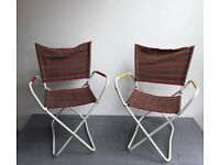 Pair of vintage folding chairs