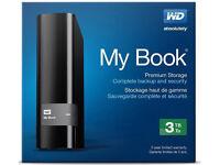 WD MY BOOK 3tb hard drive. New