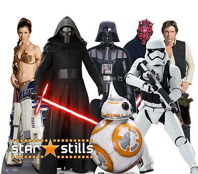 STAR WARS CHARACTER LIFESIZE CARDBOARD CUTOUT STANDEE STANDUP cutouts Characters