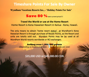 "Wyndham Resorts ""Points"" - Kona Hawaiian Resort - 80% Off"