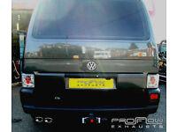 VW T4 Transporter Stainless Steel Custom Exhaust Back Box
