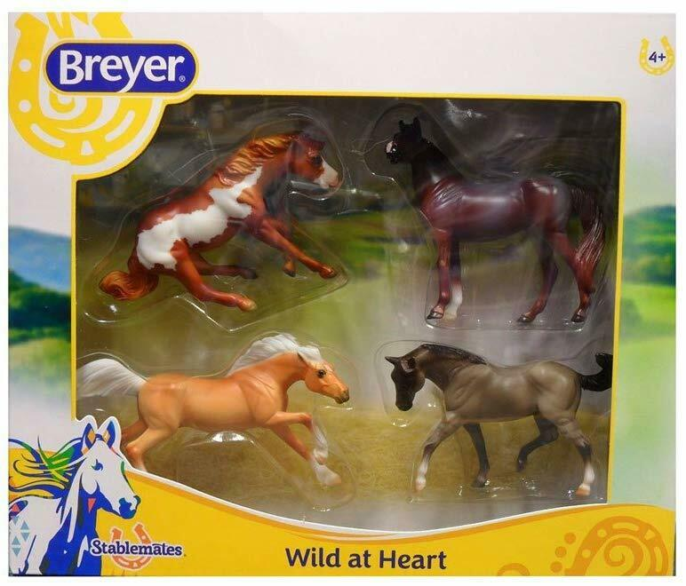 Breyer Stablemates Wild at Heart Horse Toy Set Four Horse Set