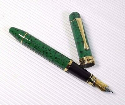 Wowi High Quality Fountain Pen Green Marble Marble 5 Poky Cartridges Black Ink