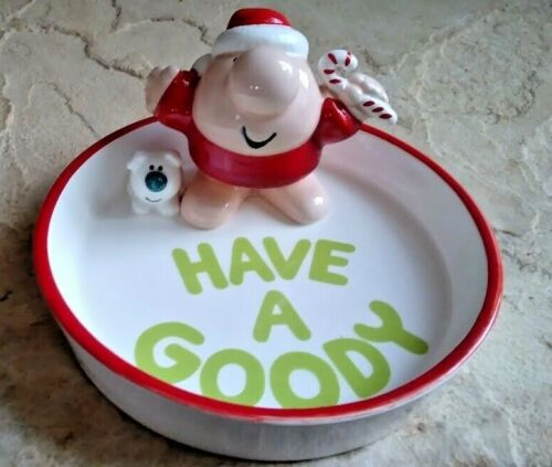 Vintage  ZIGGY Porcelain Christmas Dish - Have A Goody