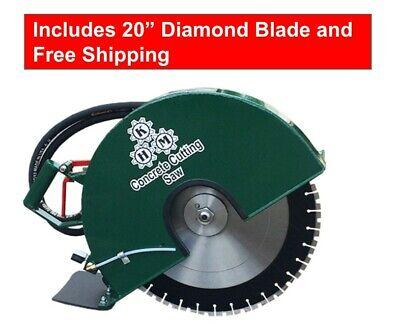 Hydraulic Concrete Cutting Handsaw 20 Diamond Blade Included
