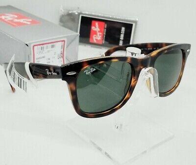 RAY BAN tortoise/green G-15 WAYFARER EASE RB4340 710 50-22 sunglasses NEW IN BOX