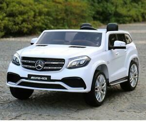 Luxurious Mercedes and BMW two seater ride on car toys by DTI DIRECT, with Leather seats and EVA tires,