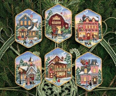 Christmas Village Ornaments Cross Stitch Kit