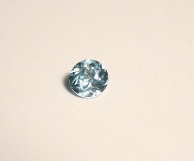 0.57ct Blue Zircon - Clean Custom Cut Brilliant Round - Cambodia