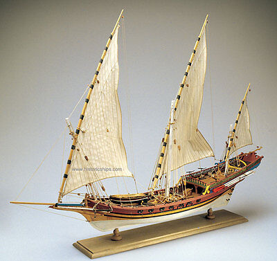 "Beautiful, brand new Amati wooden model ship kit: the ""Xebec"""
