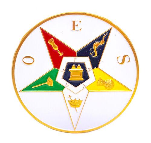 O.E.S. Order of the Eastern Star  2 3/4 inch car emblem #COES