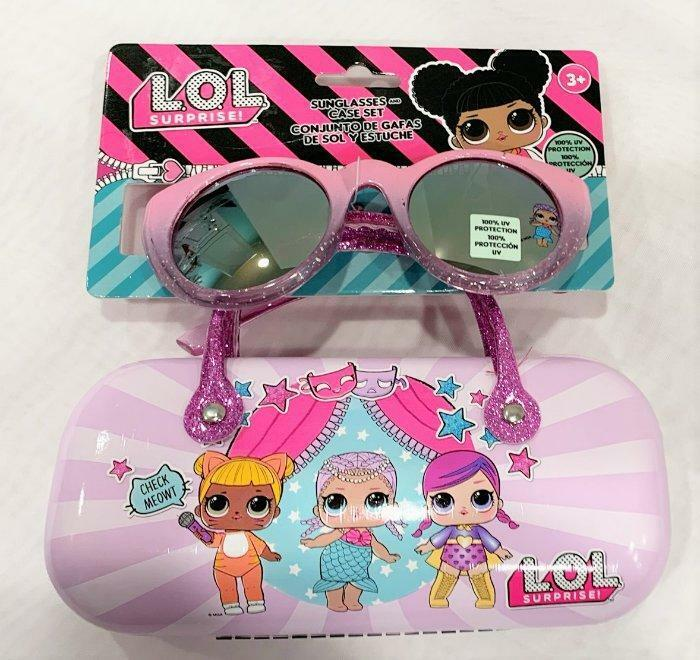 LOL Suprise Girls Kids Sunglasses & Hard Case Set 100% UV Protection
