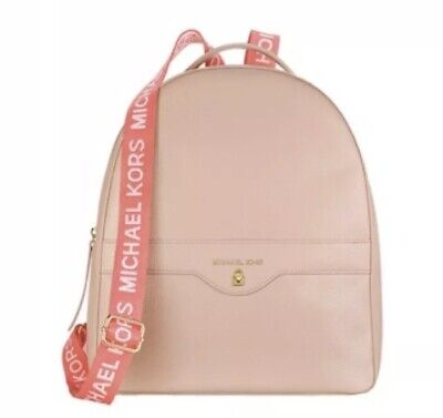 New!! Michael Kors Blush Back Pack Woman's Bag Faux Leather Travel!!