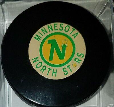 Vintage NHL Minnesota North Stars Converse Art Ross Game Hockey Puck CCM USA old