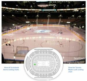 Leafs VS Kings Oct 15 - Gold Tickets Behind Home Net