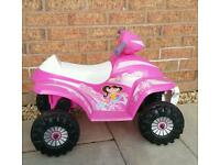 Pink Ride On Racing Quad