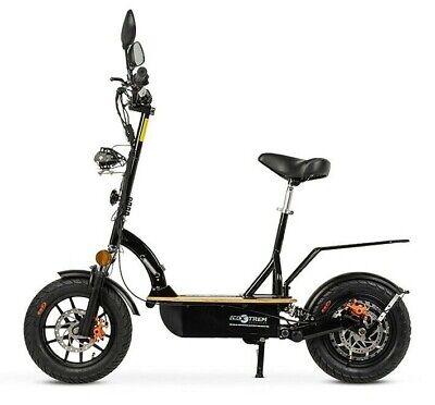 Patinete electrico 1200w plegable scooter Renton sillin plataforma madera negro