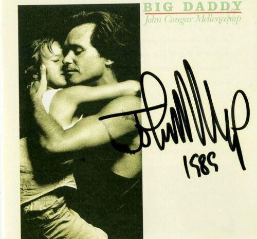 John Cougar Mellencamp signed Bid Daddy CD with vintage full name signature