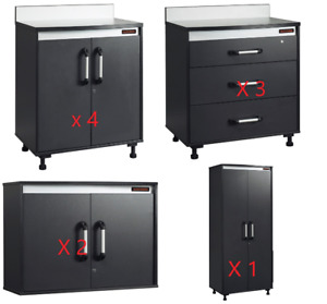 BLACK & DECKER GARAGE STORAGE CABINETS - 10 PIECES - NEW