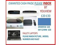 WANTED LAPTOPS / PC TOWERS / BT YOUVIEW / JOBLOTS / BANKRUPT STOCK / PALLETS OF ITEMS / SINGLE ITEM