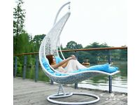 Rattan Swing Patio Garden Weave Outdoor or Indoor Hanging Egg Chair With Cushion RRP £399