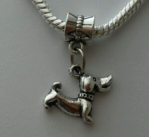 Dachshund Dog Pet Animal Puppy Dangle Bead For European Charm Bracelet