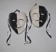 Half Black & White X-Large Italian Comedy / Tragedy Face ...