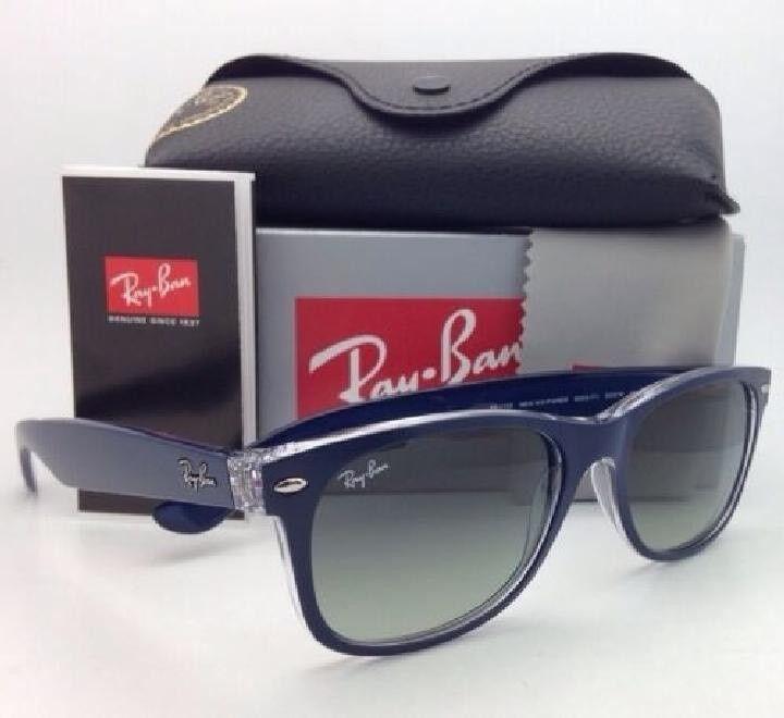 7db40646445 free shipping ray ban new wayfarer matte blue transparent grey gradient  59d0c a40f5  australia genuine ray ban sunglasses wayfarer blue clear c51cc  b6950