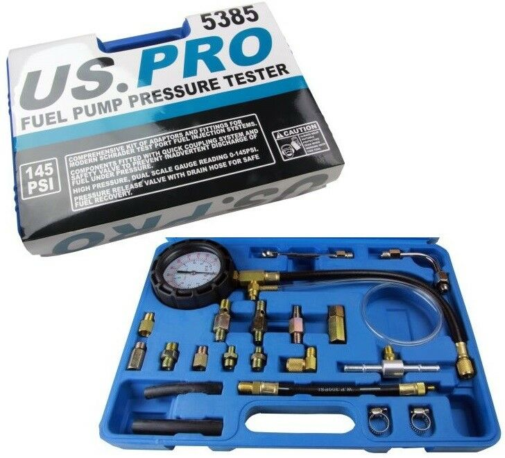 Fuel Pump Pressure Tester Petrol & Diesel With Schrader Test Port US PRO 5385