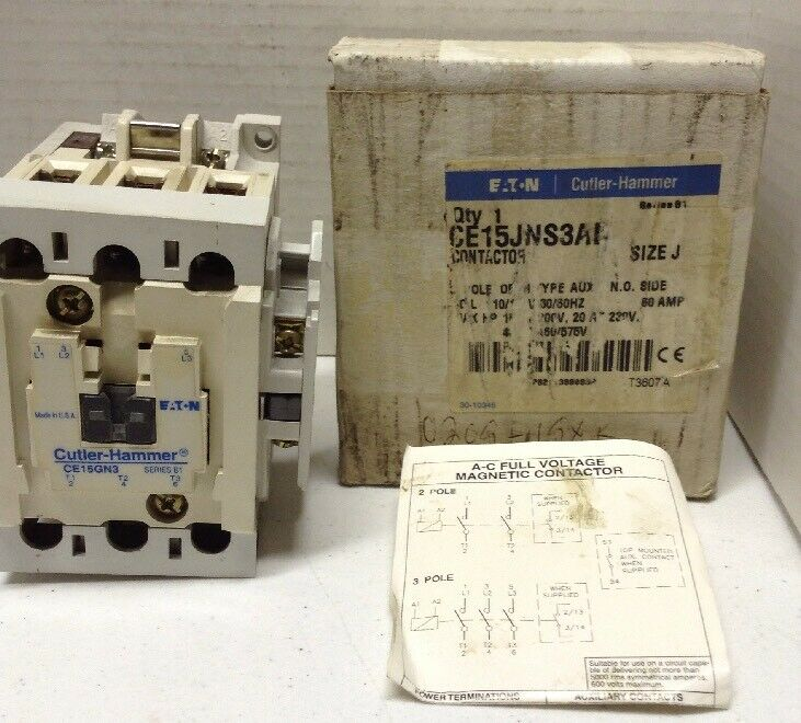 Eaton Cutler-Hammer CE15JNS3AB Contactor Size J Series B1