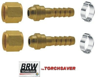 Torch Fittings-rh Oxygen X 14 Hosecutting Torch Wclamps- Pn B-250-rh-oxy