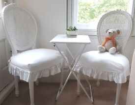 Rachel Ashwell Shabby Chic 2 Darcy Chairs with Slipcover, RRP £600 Vintage
