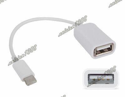 iPad 4 iPad Mini To USB 2.0 Female OTG Adapter Cable With Camera U Disk avi