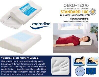 Nackenstützkissen Visko Gel 50 x 30 Kopfkissen mit Memory Kissen Pillow Neu OVP