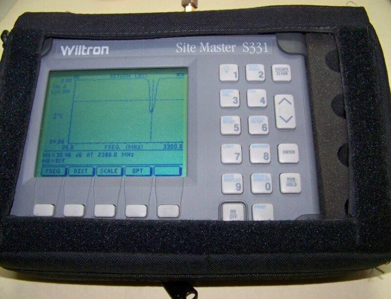 Wiltron S331 Site Master with nice soft case, new Battery & Charger Full Test!