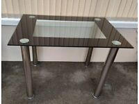 Table, Glass topped
