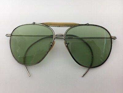 WW2 Bausch & Lomb B&L RAY BAN Aviator Pilot Sunglasses US GI AN-6531-1 WII