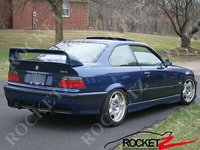 92-98 BMW E36 HM LTW Style 2PC Trunk Spoiler Wing CANADA USA (High Ver.)