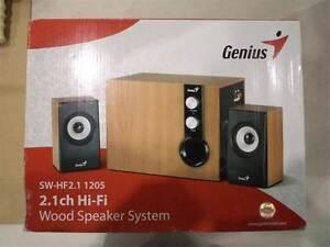 Genius SW HF 2.1 Hi-Fi Wood Speaker System with subwoofer Kensington Eastern Suburbs Preview