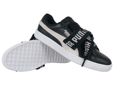 Women's Trainers Puma Basket Heart DE Leather Sneakers Black Everyday Trainers