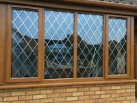 Golden Oak UPVC VEKA Window, Diamond Lead A Rated Glass, High Security locks, NEW AND UN-USED!!