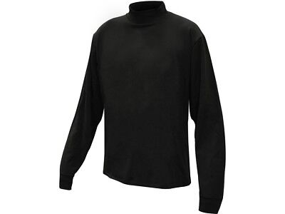 Mens Black 2XL Thermal Long Sleeve Underwear Shirt Mock Turtleneck XXL (Long Sleeve Thermal Long Underwear)