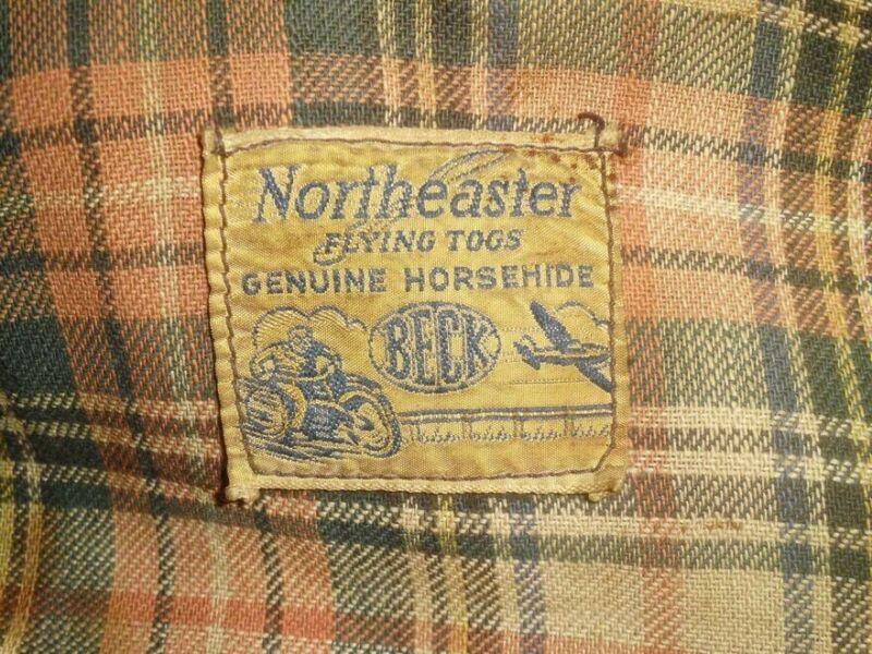Beck Northeaster Flying Togs Horsehide Jacket 1930