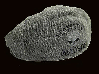 Harley Davidson  Men's willie g Skull Cotton Grey Ivy Cap (M) HAT